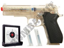Smith and Wesson M4505 Airsoft BB Gun and Target Set Clear Official Replica